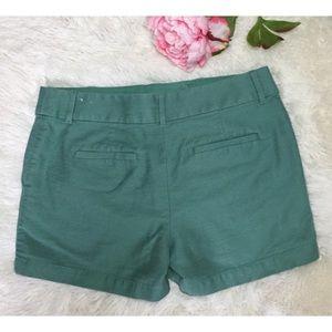 Loft Sage Cotton Dress Shorts